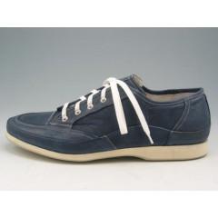 Scarpa sportiva stringata in pelle blu - Misure disponibili: 46