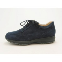 Men's laced sports shoe in dark blue suede - Available sizes:  46