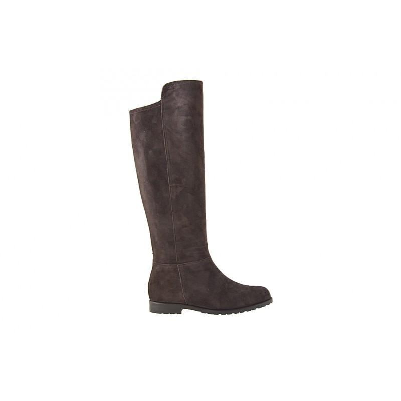 Stiefel mit Reissverschluss aus dunkelbraunem Wildleder Absatz 2 - Verfügbare Größen:  32