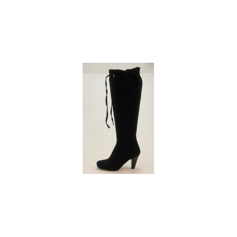 Bag boot in black suedeleather - Available sizes:  31