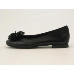 Ballerina fiore in pelle nero - Misure disponibili: 32