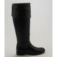 Stivale sopra il ginocchio in pelle nero - Misure disponibili: 31