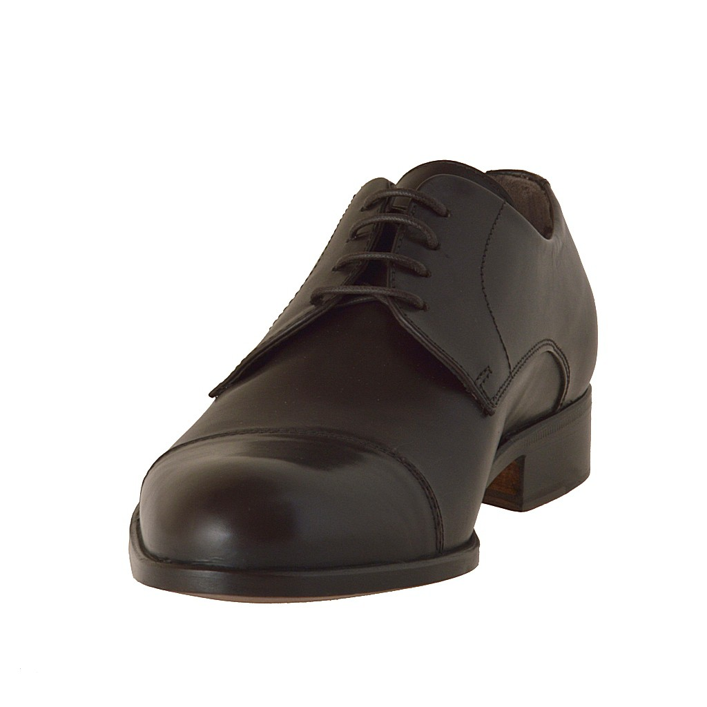 small or large lace up shoe in brown leather