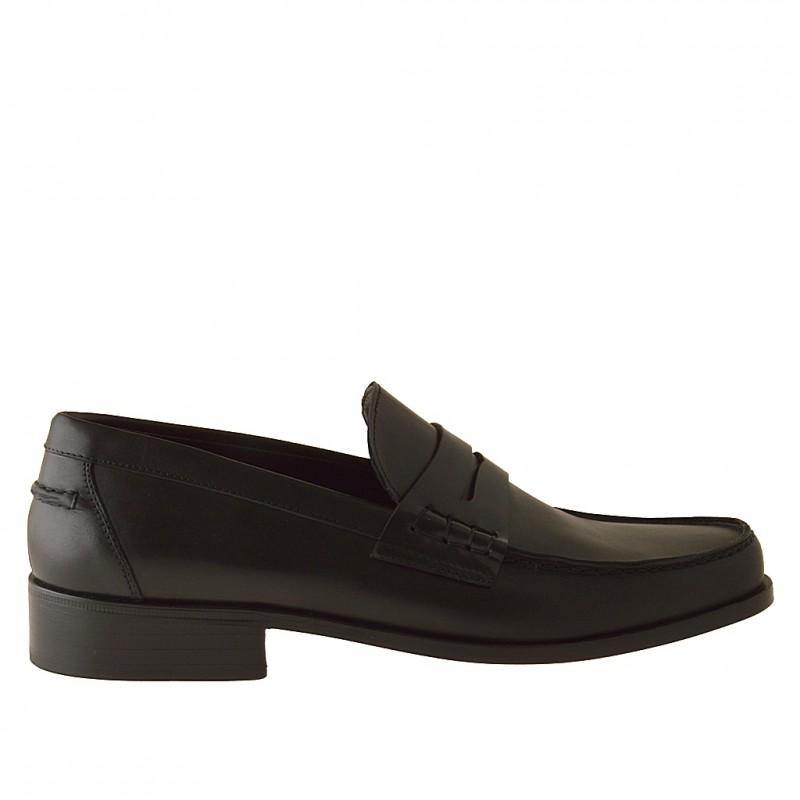 Mocassin en cuir noir - Pointures disponibles:  38
