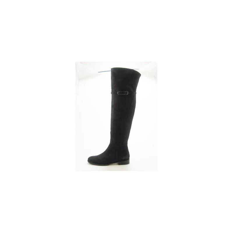 Bottes sur le genou en daim gris - Pointures disponibles:  31