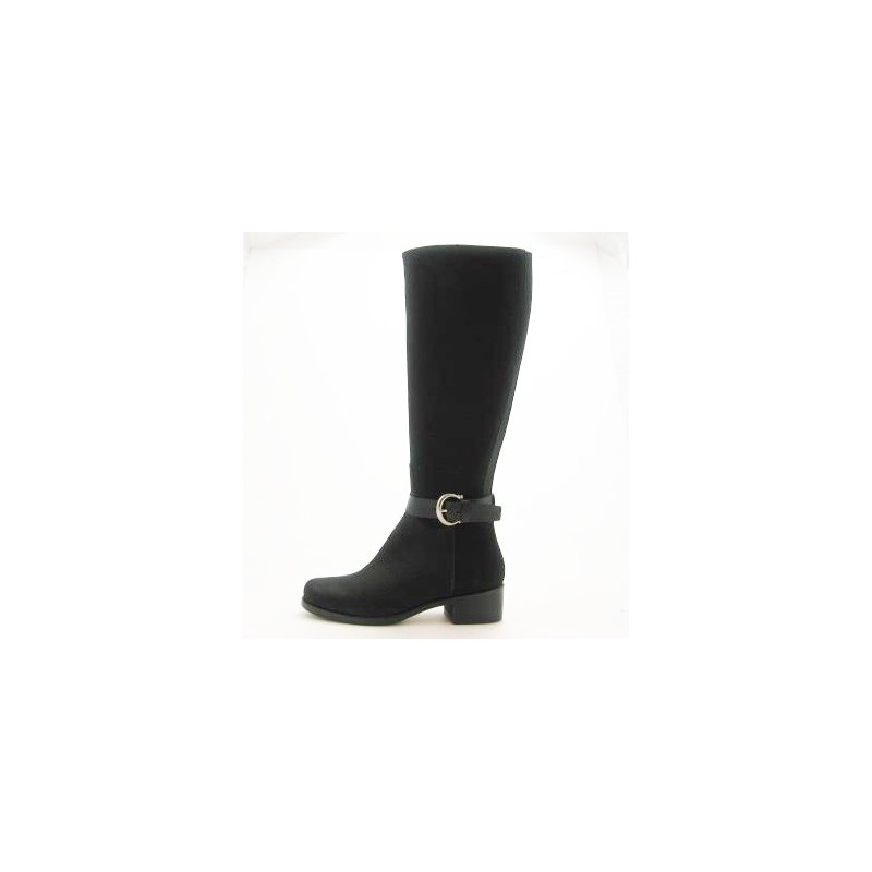 Boot with zipper in black oiled leather - Available sizes:  31