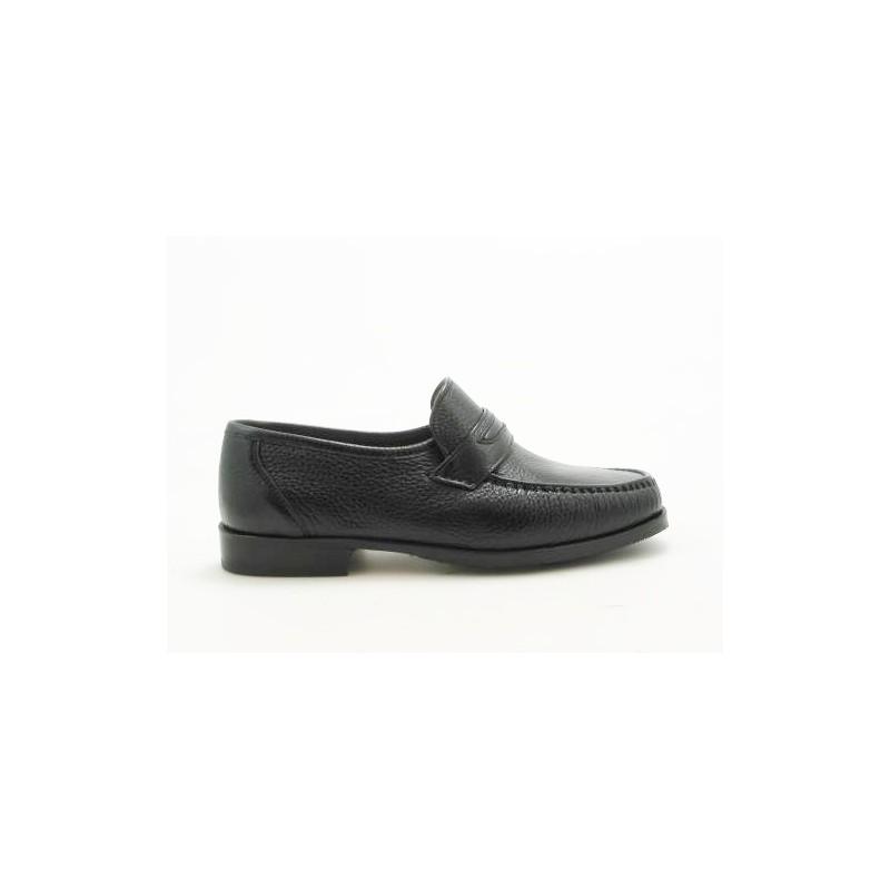 Mocassin en cuir noir - Pointures disponibles:  52