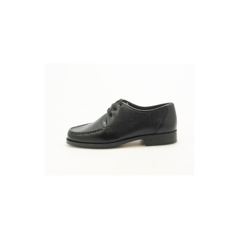 Men's laced shoe in black leather - Available sizes:  52
