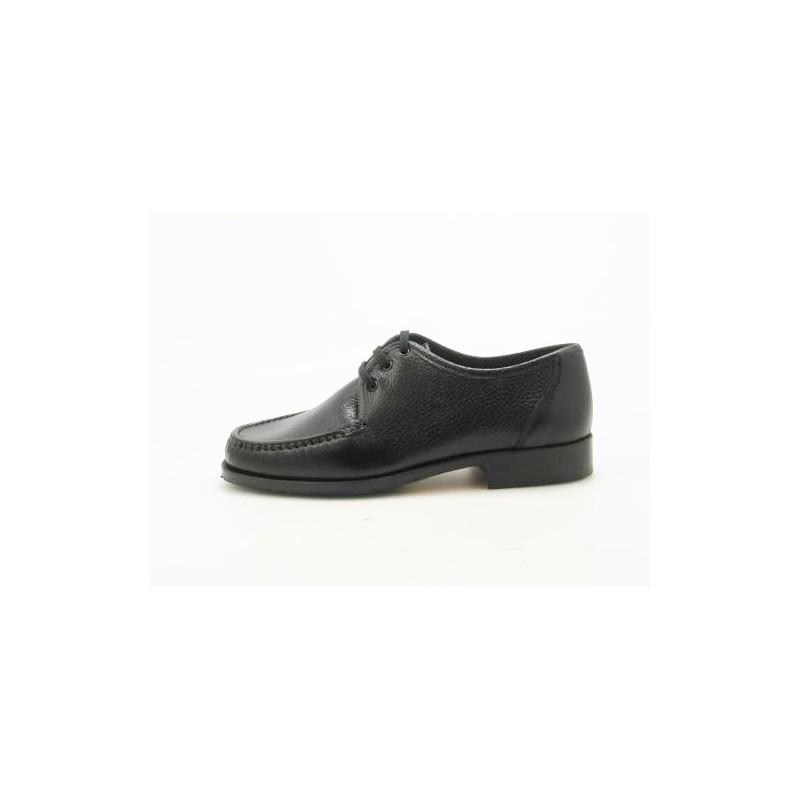 Mocassin avec lacets en cuir noir - Pointures disponibles:  36, 52
