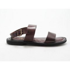 Men's sandal in brown leather - Available sizes:  47, 48