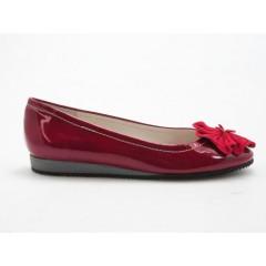 Ballerina in vernice e camoscio colore rosso - Misure disponibili: 32