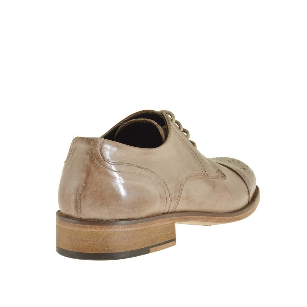 Runner - Cerrado de cuero hombre, color beige, talla 46