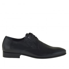 Men elagant lace-up shoe in black patent leather - Available sizes:  36
