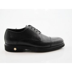 Zapato con cordones en piel color negro - Tallas disponibles:  50, 51