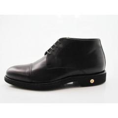 Zapato con cordones y puntera para hombre en piel color marron oscuro - Tallas disponibles:  50