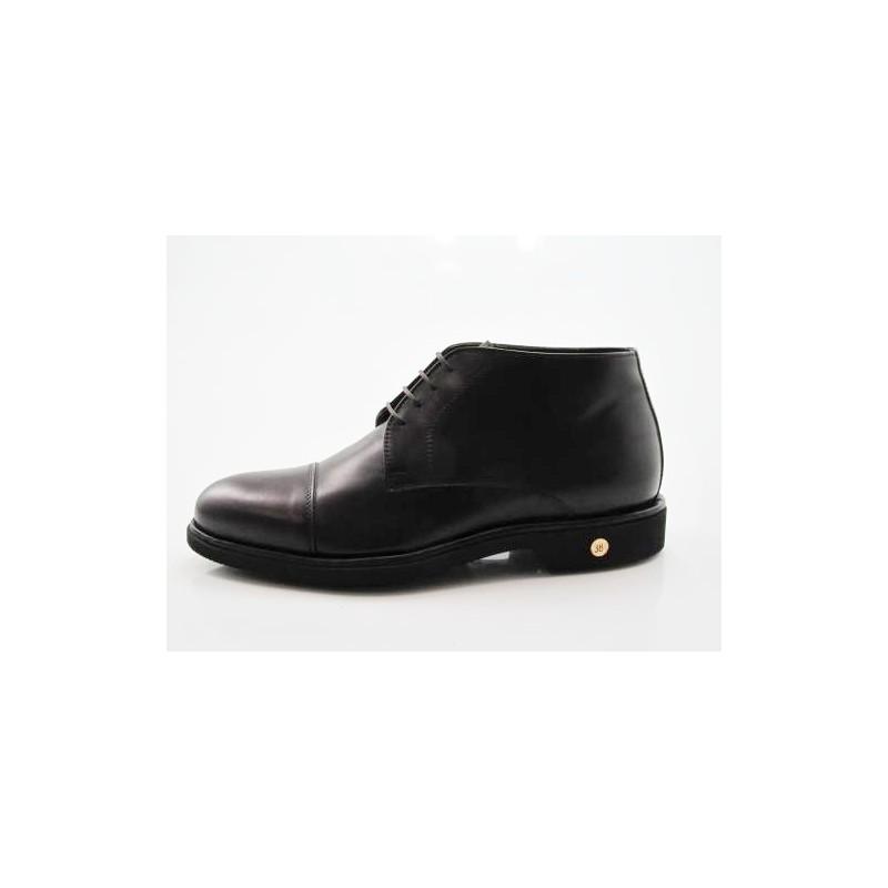 Chaussure à lacets et bout droit pour hommes en cuir de couleur brun foncé - Pointures disponibles:  50