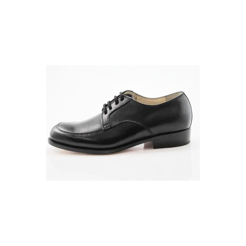Zapato con cordones para hombre en piel negra - Tallas disponibles:  36
