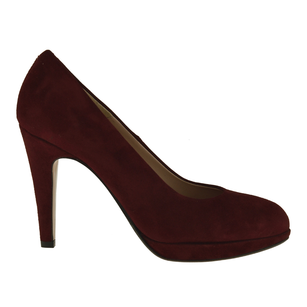 Maroon Pumps Shoes for Women