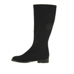 Woman boot in black elastic fabric heel 3 - Available sizes:  31