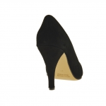 Femme escarpin en daim noir avec talon 9 - Pointures disponibles:  31