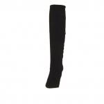 Bottes pour femmes avec fermeture éclair en daim noir talon 9 - Pointures disponibles:  31, 42