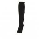 Stivale da donna in camoscio nero con cerniera tacco 9 - Misure disponibili: 31, 42
