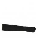 Bottes pour femmes avec fermeture éclair en daim noir talon 9 - Pointures disponibles:  42