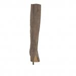 Femme botte avec fermeture éclair en daim taupe avec talon 9 - Pointures disponibles:  31, 43