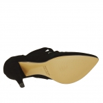 Bottines basses avec lanières en suède noir talon 9  - Pointures disponibles:  42