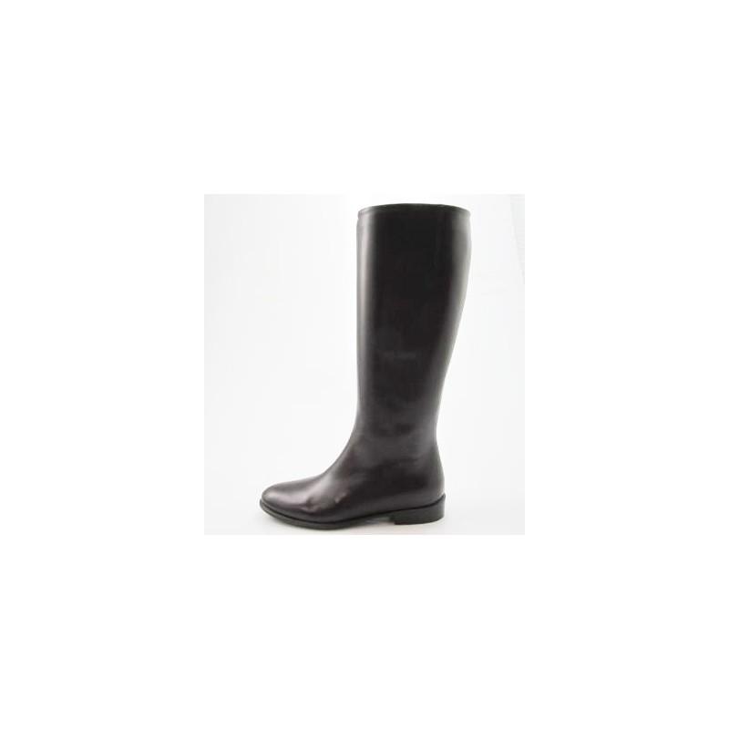 Damenstiefel mit Reißverschluß aus dunkelbraunem Leder Absatz 2 - Verfügbare Größen:  31
