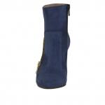 Bottine avec fermeture éclair en daim bleu talon 9 - Pointures disponibles:  42