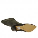Femme botte avec fermeture éclair en cuir noir avec talon 9 - Pointures disponibles:  31