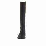 Classic boot with zipper in black leather heel 3 - Available sizes:  32