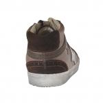 Femme talon haut chaussure avec lacets et fermeture éclair en cuir et daim marron et caché talon compensé 2 - Pointures disponibles:  32, 33