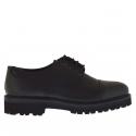 Chaussure élégante pour hommes avec lacets en cuir noir