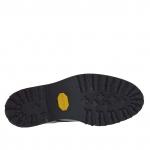 Chaussure élégante pour hommes avec lacets en cuir noir - Pointures disponibles:  47