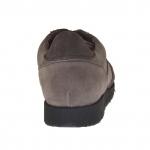 Scarpa da uomo stringata in camoscio e nabuk colore grigio e taupe - Misure disponibili: 37, 47