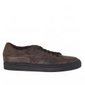 Chaussures fermées sportive avec lacets élégants en cuir antique brun foncé