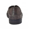 Chaussures fermées sportive avec lacets élégants en cuir antique brun foncé - Pointures disponibles:  50, 51