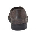 Sport laced shoe in dark brown vintage leather laced shoe in dark brown vintage leather - Available sizes:  50, 51