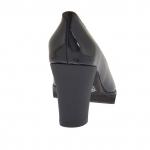 Escarpin pour femmes en cuir verni noir talon 7 - Pointures disponibles:  34