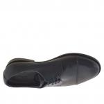 Elégant chaussure pour hommes avec lacets et bout droit en cuir noir - Pointures disponibles:  51