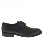 Elégant chaussure pour homme avec lacets en cuir noir - Pointures disponibles:  50, 51