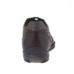 Knöchelhoher sportlicher Herrenschuh mit Schnürsenkeln aus bordeaufarbenem Leder - Verfügbare Größen:  47