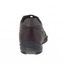 Scarpa sportiva da uomo stringata in pelle bordò - Misure disponibili: 47