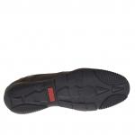 Sportif talon haut chaussure pour hommes avec lacets en cuir bordeaux - Pointures disponibles:  47, 51