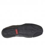 Homme sporif chaussure avec lacets en daim et cuir noir - Pointures disponibles:  46