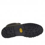 Homme sportif talon haut chaussure avec lacets en cuir vert militaire - Pointures disponibles:  50