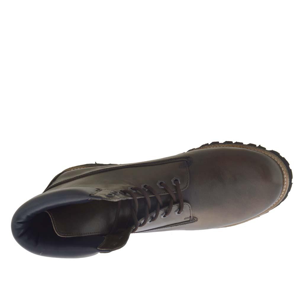 Sportif Lacets Talon Vert Homme Chaussure Militaire Avec Haut En Cuir VpqMSGUz