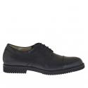 Chaussure avec lacets en cuir noir
